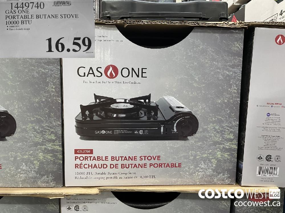 14497490 GAS ONE PORTABLE BUTANE STOVE 10000 BTU $16.59