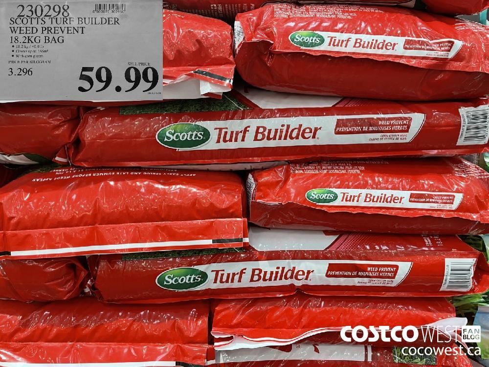 930298 SCOTTS TURF BUILDER WEED PREVENT 18.2KG BAG $59.99