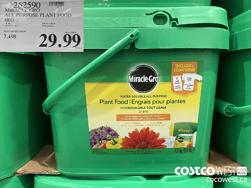 1262590 MIRACLE-GRO ALL PURPOSE PLANT FOOD 4KG $99.99