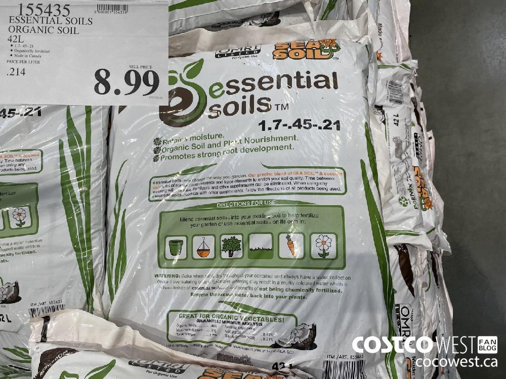 155435 ESSENTIAL SOILS ORGANIC SOIL 42L $8.99