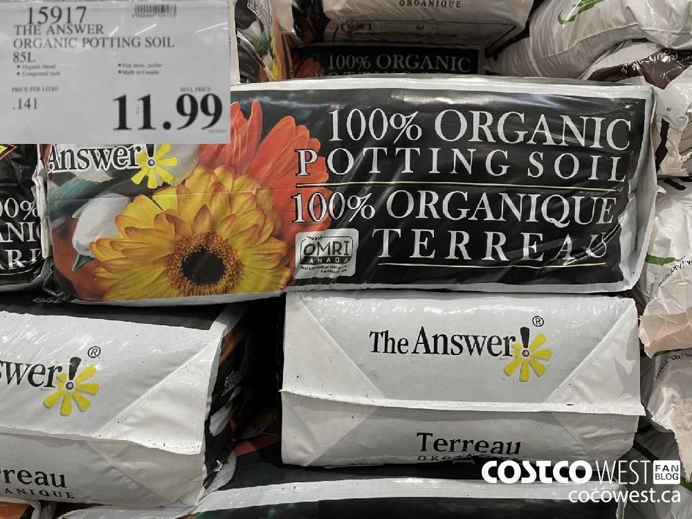 15917 THE ANSWER ORGANIC POTTING SOIL 85L $11.99
