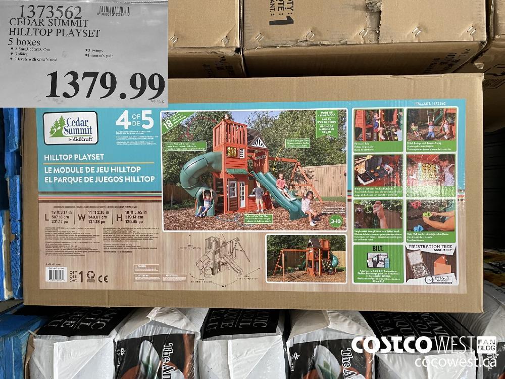 1373562 CEDAR SUMMIT HILLTOP PLAYSET 5 boxes $1379.99