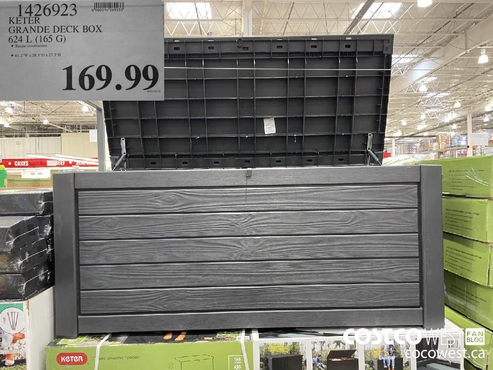 1426923 KETER GRANDE DECK BOX 624 L (165 G) $169.99