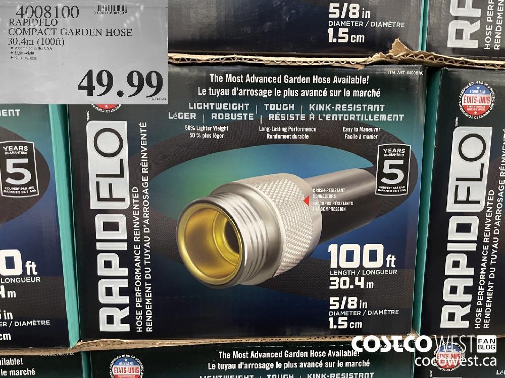 4008100 RAPIDFLO COMPACT GARDEN HOSE 30.4m (100ft) $49.99