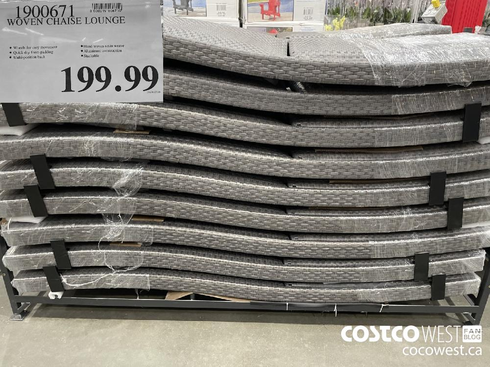 1900671 WOVEN CHAISE LOUNGE $199.99
