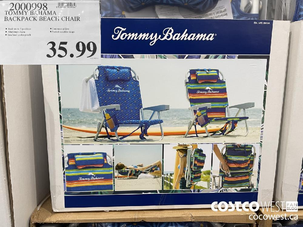 9000998 TOMMY BAHAMA BACKPACK BEACH CHAIR $35.99
