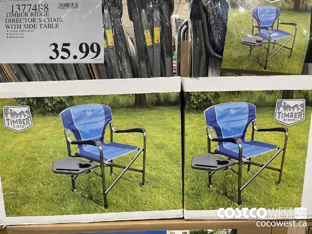 1377488 TIMBER RIDGE DIRECTOR'S CHAIR WITH SIDE TABLE $35.99