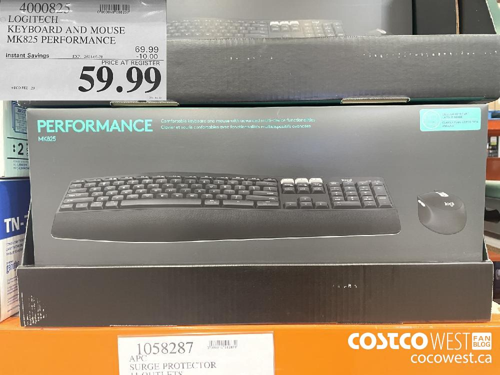 4000825 LOGITECH KEYBOARD AND MOUSE MK825 PERFORMANCE EXPIRY DATE: 2021-02-28 $59.99