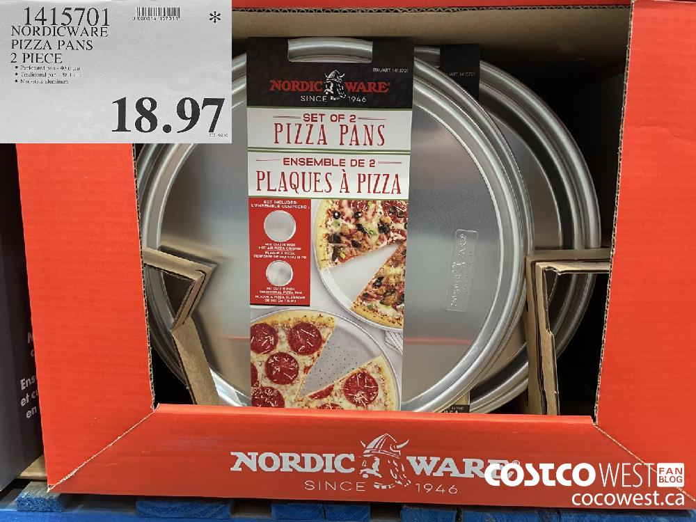 1415701 NORDICWARE PIZZA PANS 2 PIECE $18.97