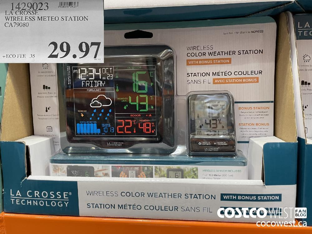 1429023 LA CROSSE WIRELESS METEO STATION CA79080 $29.97