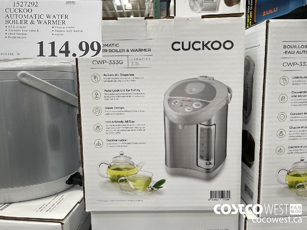 1527292 CUCKOO AUTOMATIC WATER BOILER