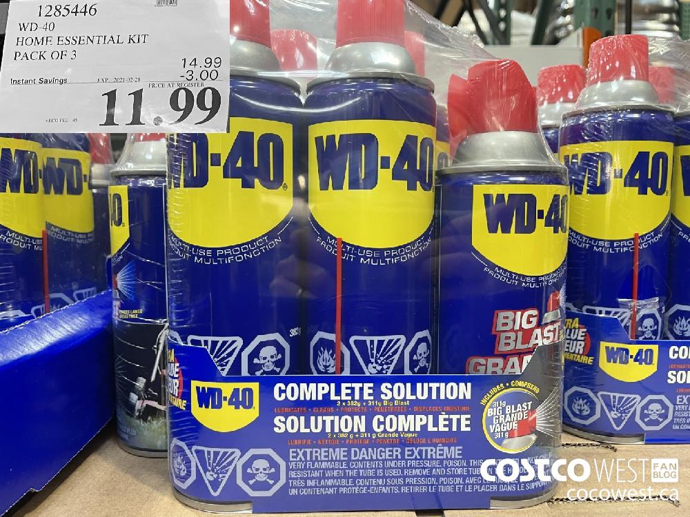 1285446 WD-40 HOME ESSENTIAL KIT PACK OF 3 EXPIRY DATE: 2021-02-28 $11.99