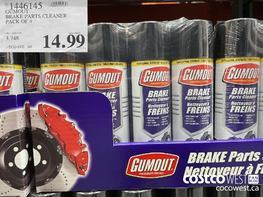 1446145 GUMOUT BRAKE PARTS CLEANER PACK OF 4 $14.99
