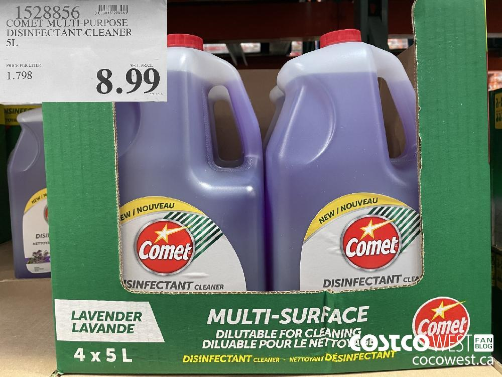 1528856 COMET MULTI-PURPOSE DISINFECTANT-CLEANER 5L $8.99