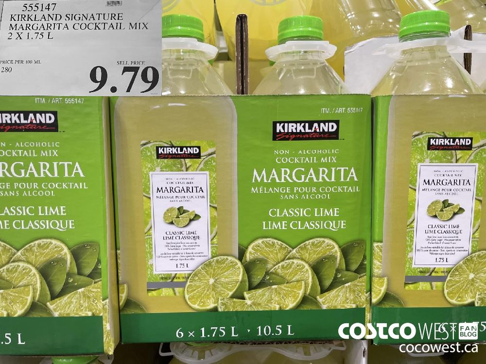 555147 KIRKLAND SIGNATURE MARGARITA COCKTAIL MIX 2 x 1.75L $9.79