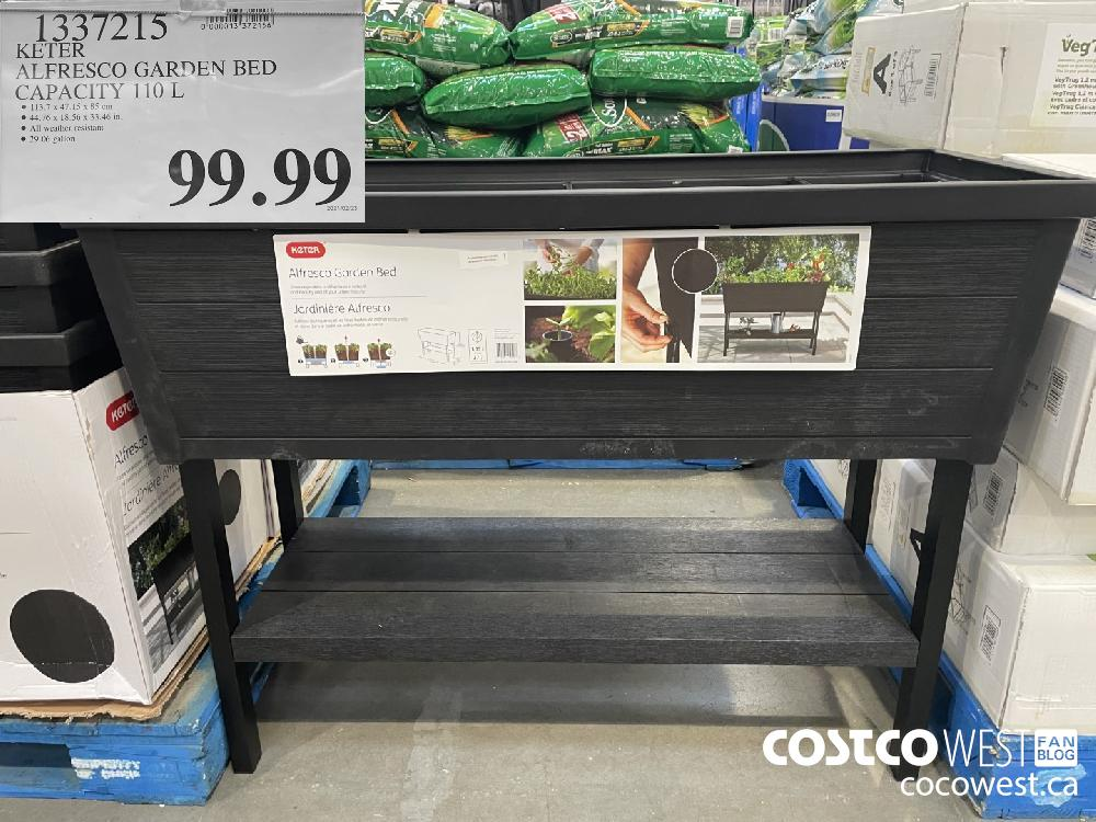 1337215 KETER ALFRESCO GARDEN BED CAPACITY 110 L $99.99