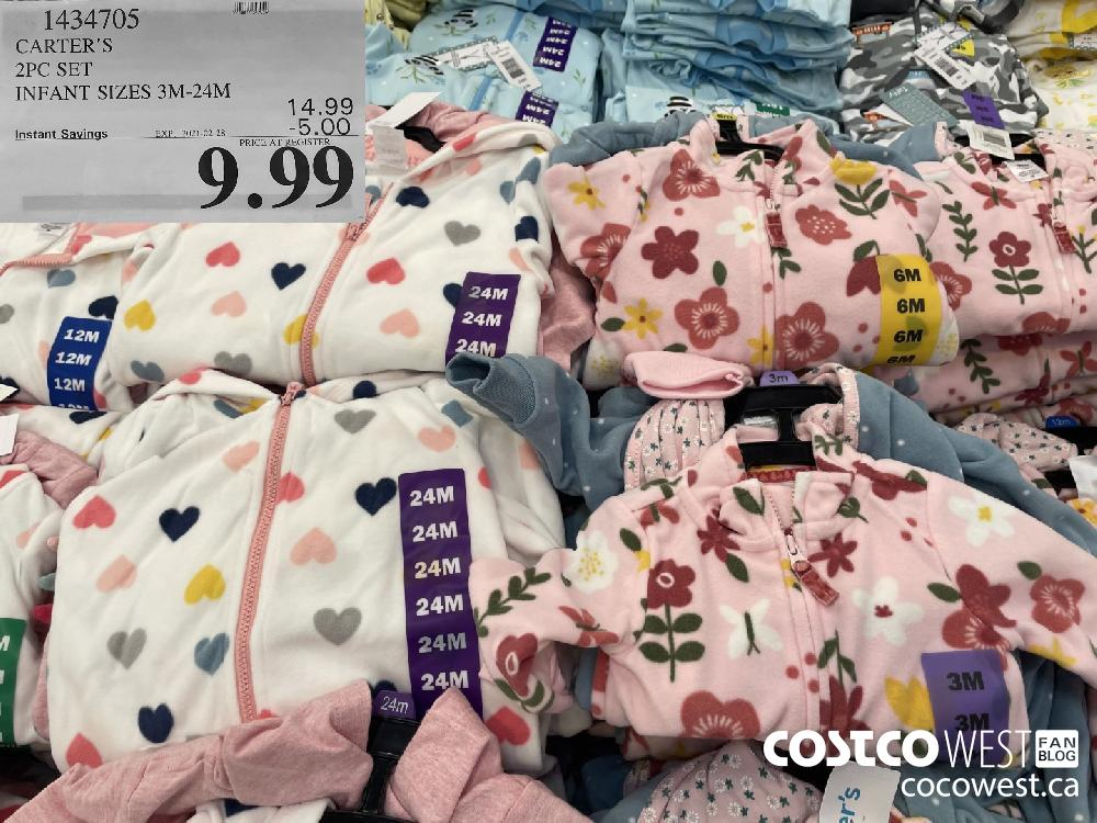 1434705 CARTER'S 2PC SET INFANT SIZES 3M-24M EXPIRY DATE: 2021-02-28 $9.99