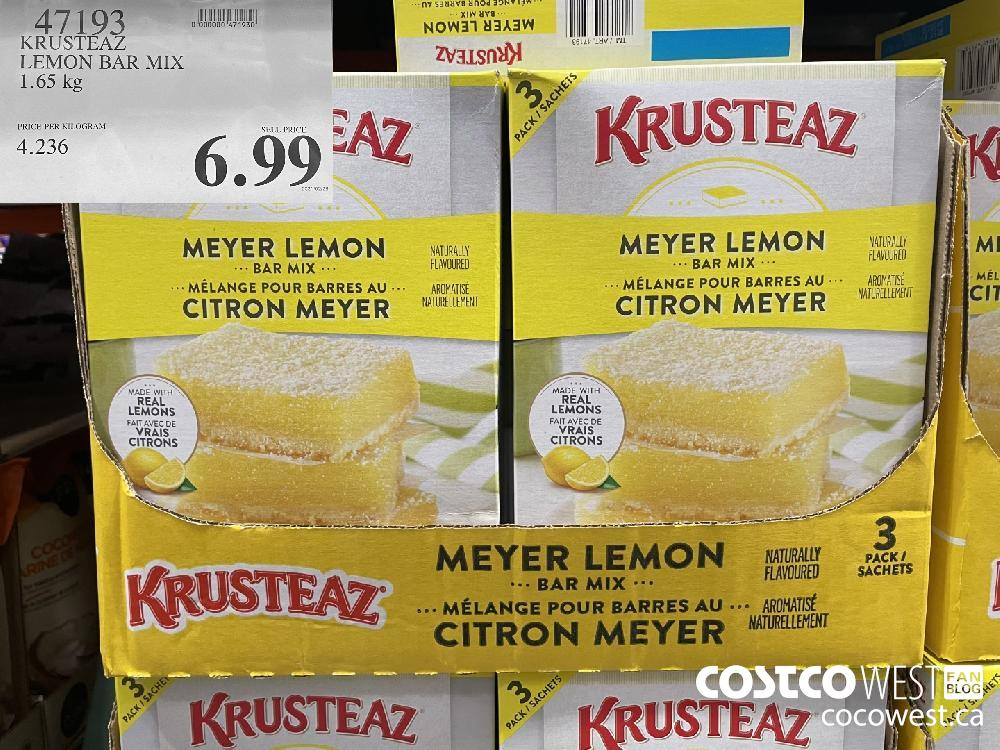 47193 KRUSTEAZ LEMON BAR MIX 1.65 kg $6.99