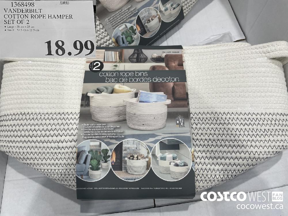 1368498 VANDERBILT COTTON ROPE HAMPER SET OF 2 $18.99