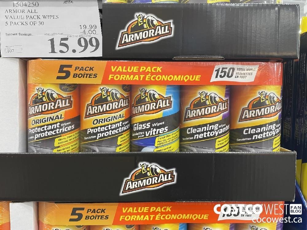 1504250 ARMOR ALL VALUE PACK WIPES 5 PACKS OF 30 EXPIRY DATE: 2021-03-07 $15.99