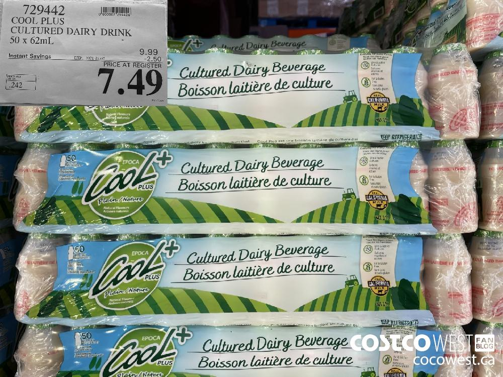 729449 COOL PLUS CULTURED DAIRY DRINK 50 x 62mL EXPIRY DATE: 2021-03-07 $7.49