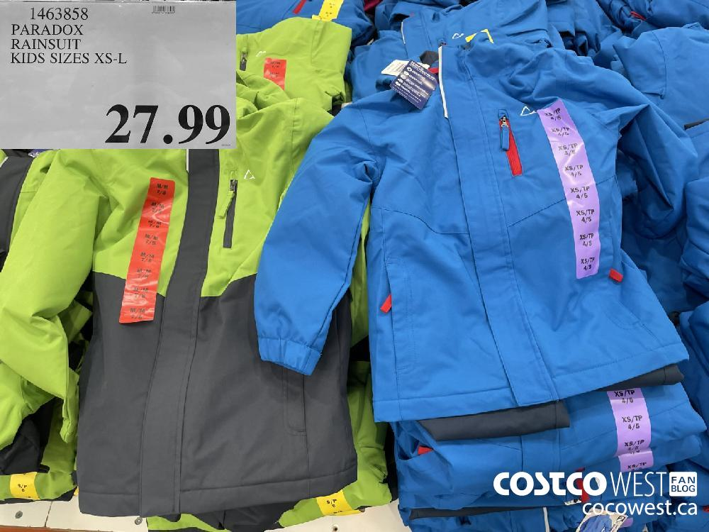 1463858 PARADOX RAINSUIT KIDS SIZES XS-L $27.99