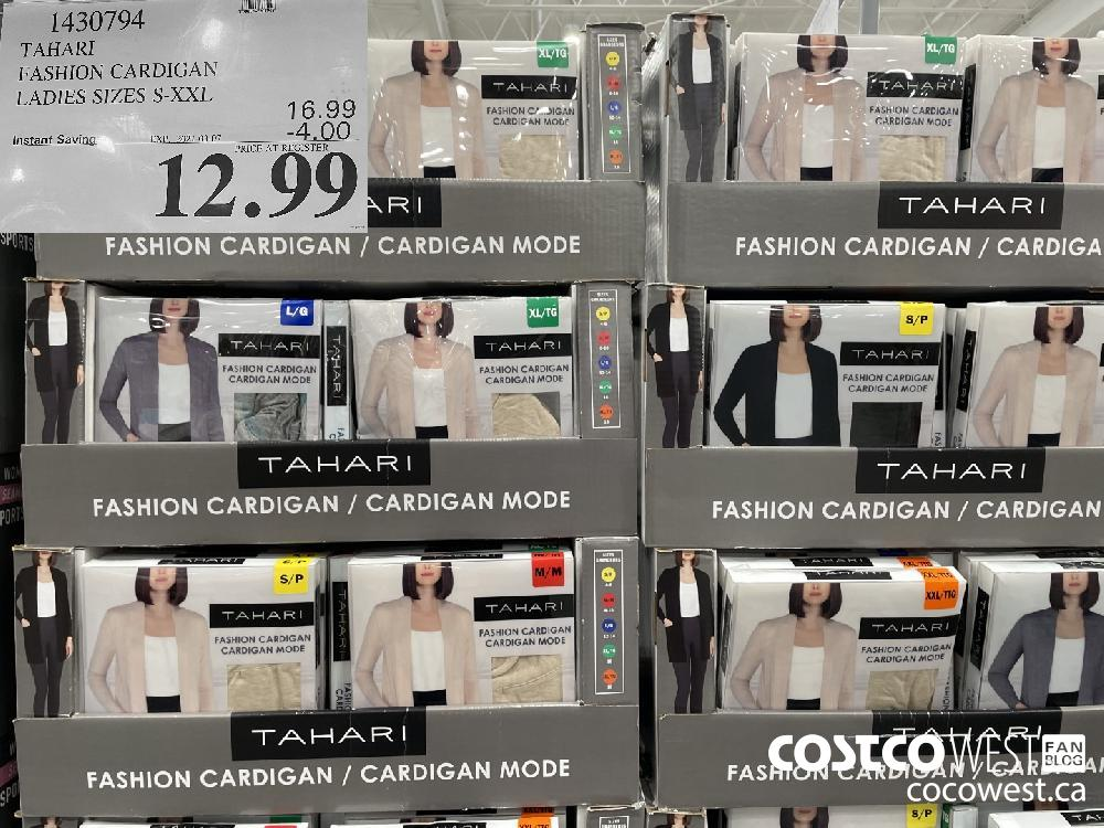 1430794 TAHARI FASHION CARDIGAN LADIES SIZES S-XXL EXPIRY DATE: 2021-03-07 $12.99