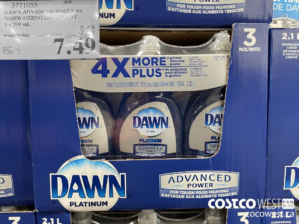 3771055 DAWN ADVANCED POWER 4X DISHWASHING DETERGENT 3 x 709 mL EXPIRY DATE: 2021-03-14 $7.49