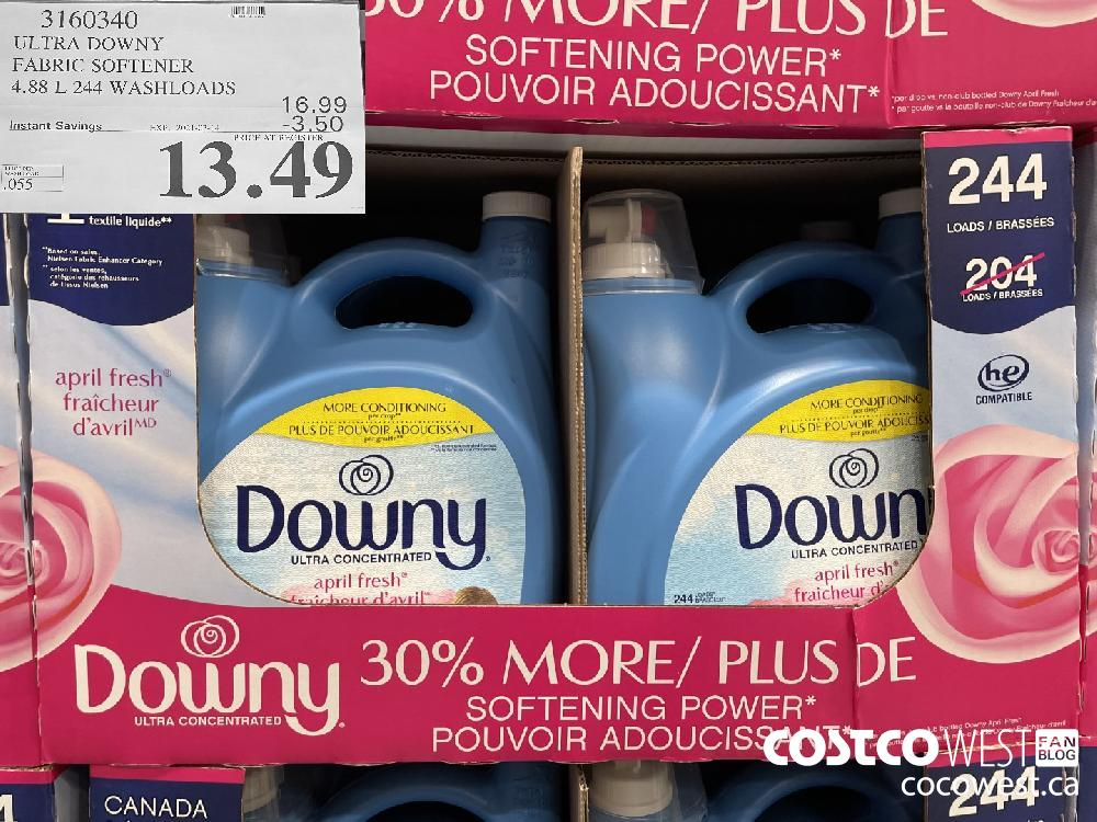3160340 ULTRA DOWNY FABRIC SOFTENER 4.88 L 244 WASHLOADS EXPIRY DATE: 2021-03-14 $13.49