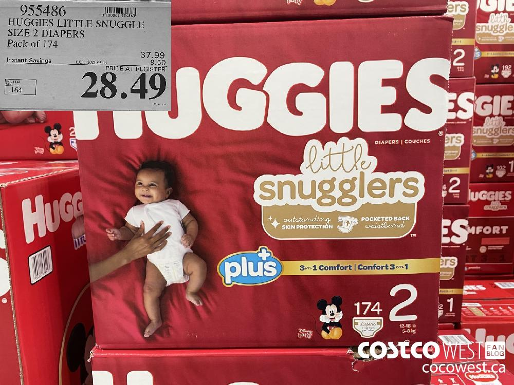 955486 HUGGIES LITTLE SNUGGLE SIZE 2 DIAPERS Pack of 174 EXPIRY DATE: 2021-03-14 $28.49