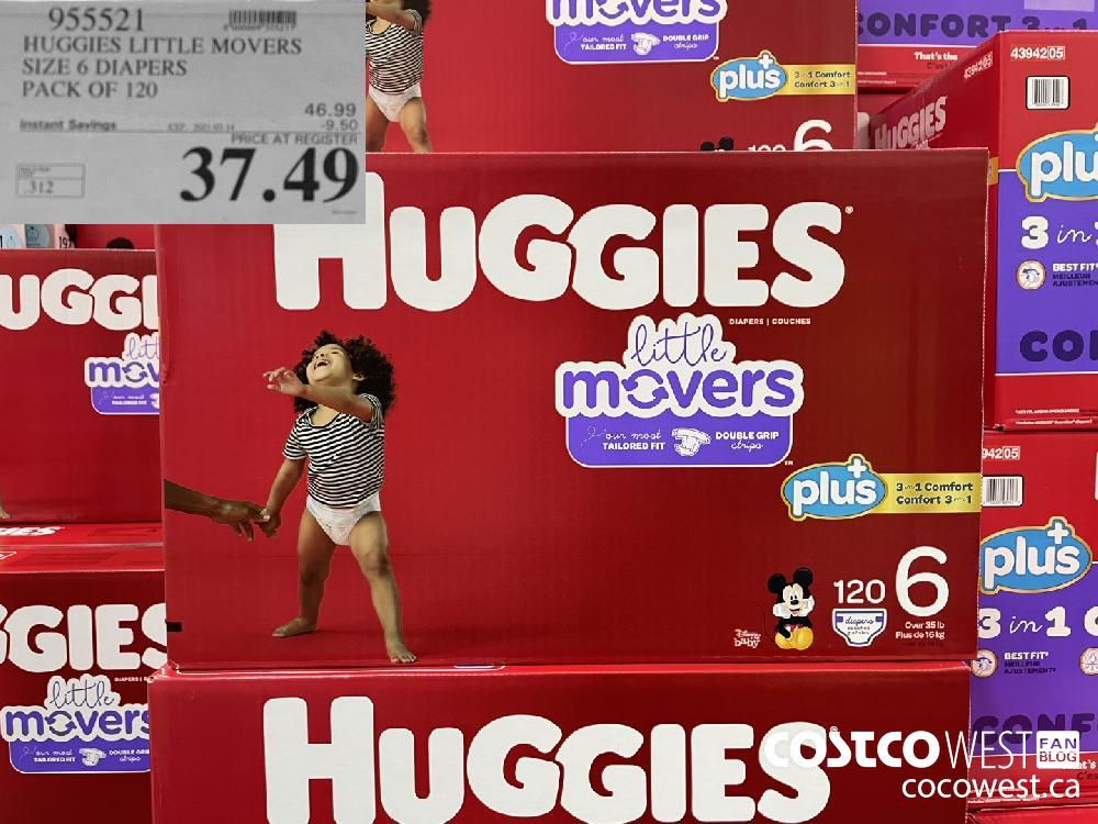 955521 HUGGIES LITTLE MOVERS SIZE 6 DIAPERS PACK OF 120 EXPIRY DATE: 2021-03-14 $37.49