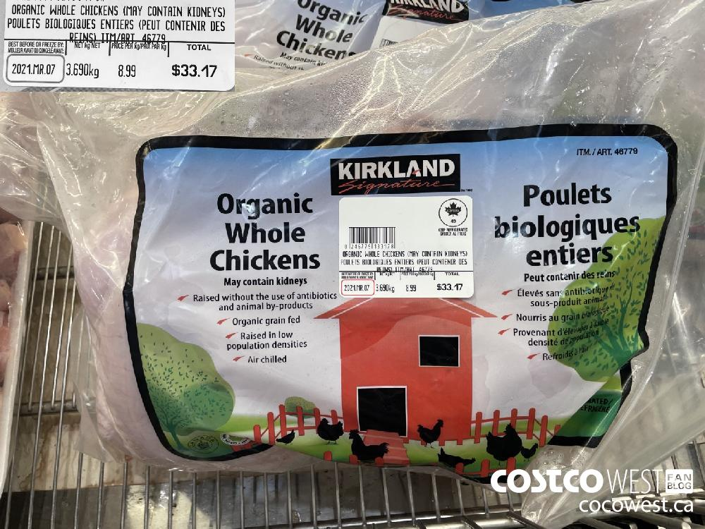 46779 ORGANIC WHOLE CHICKENS (MAY CONTAIN KIDNEYS)
