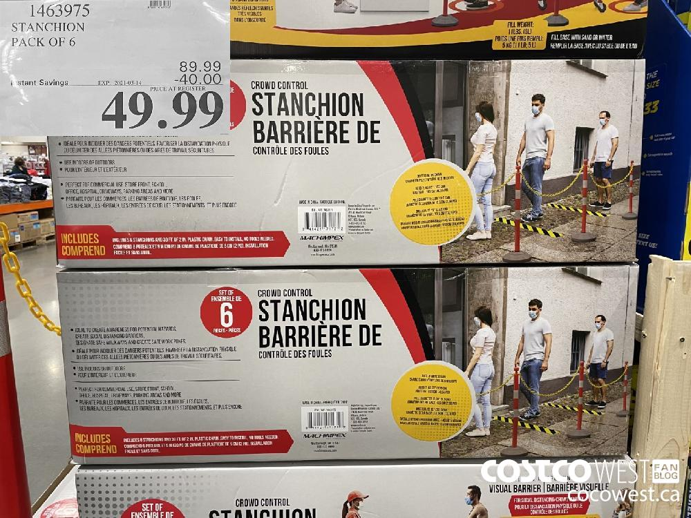 1463975 STANCHION PACK OF 6 EXPIRY DATE: 2021-03-14 $49.99
