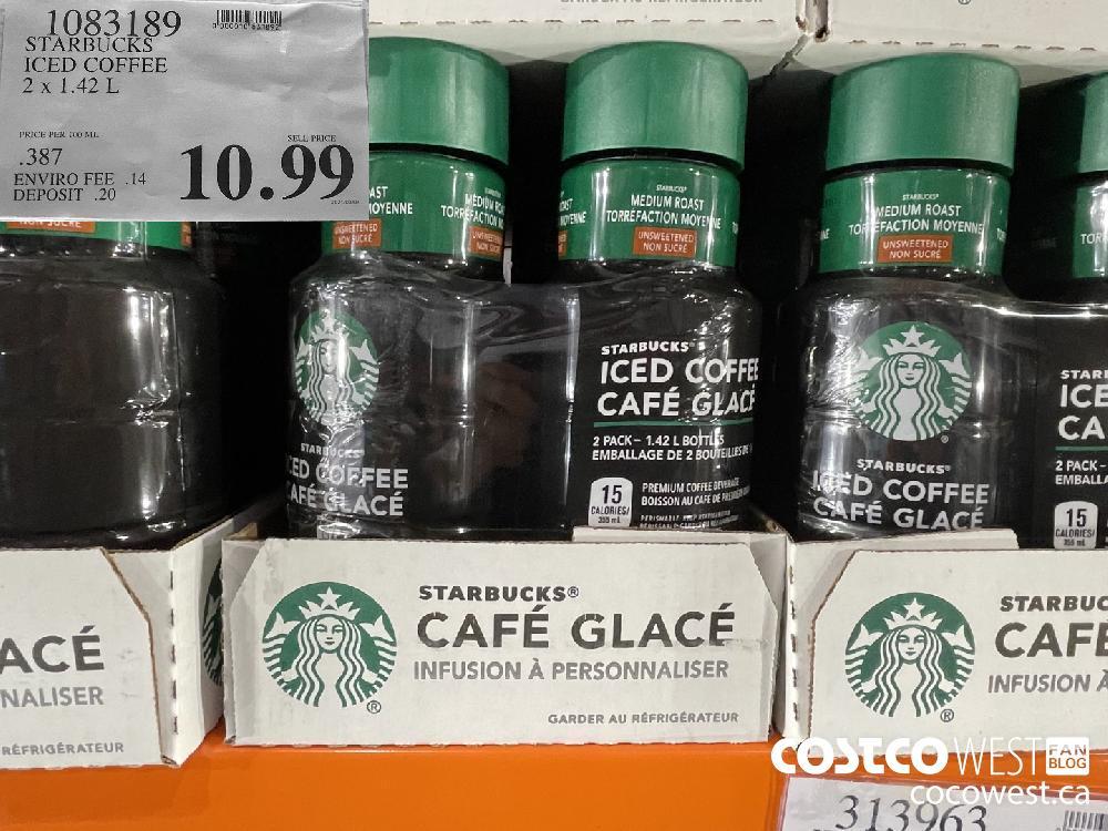1083189 STARBUCKS ICED COFFEE 2 x 1.42 L $10.99