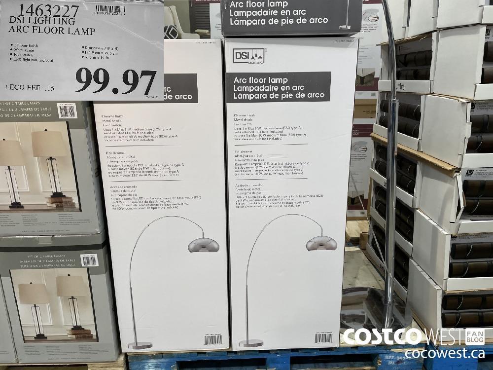 1463227 DSI LIGHTING ARC FLOOR LAMP $99.97