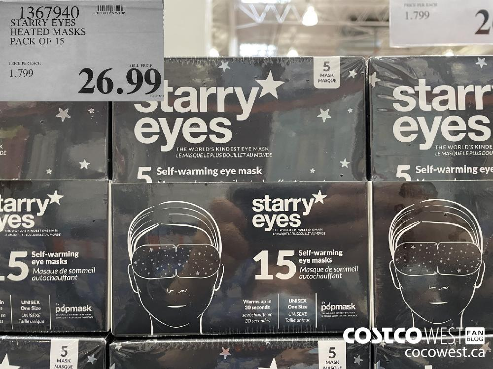 13679490 STARRY EYES HEATED MASKS PACK OF 15 $26.99