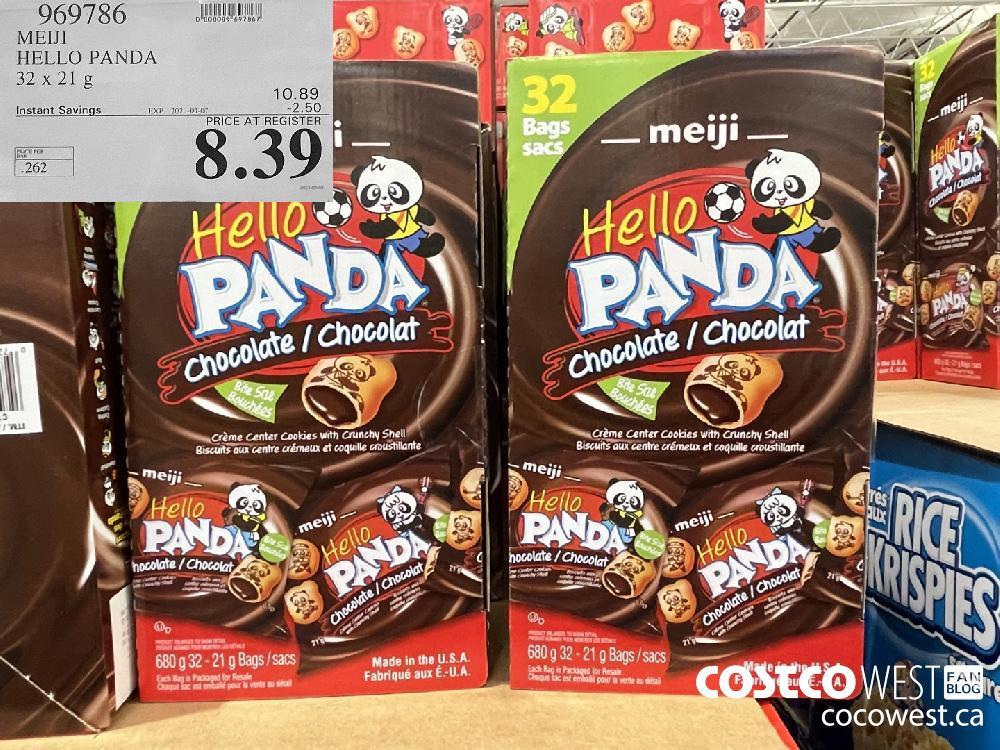 969786 MEIJI HELLO PANDA 32 x 21 g EXPIRY DATE: 2021-03-07 $8.39