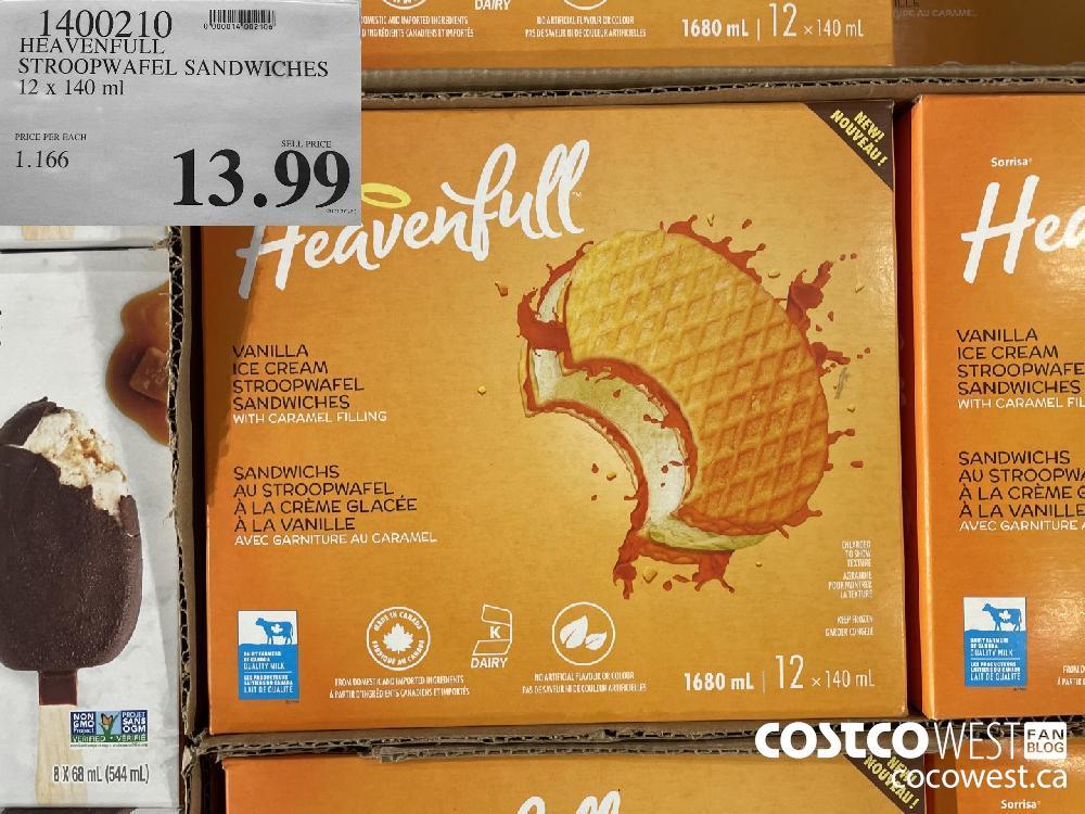 1400210 HEAVENFULL STROOPWAFEL SANDWICHES 12 x 140 ml $13.99
