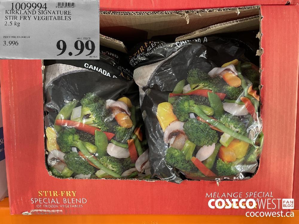1009994 KIRKLAND SIGNATURE STIR FRY VEGETABLES 2.5 kg $9.99