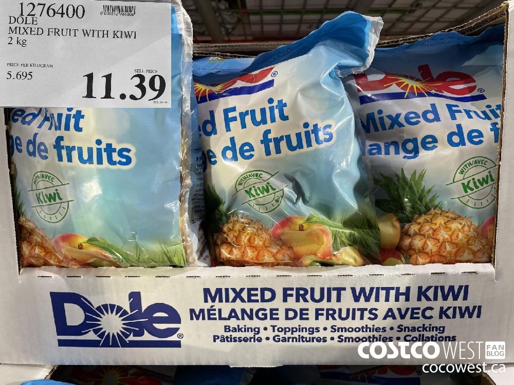 1276400 DOLE MIXED FRUIT WITH KIWI 2 kg $11.39