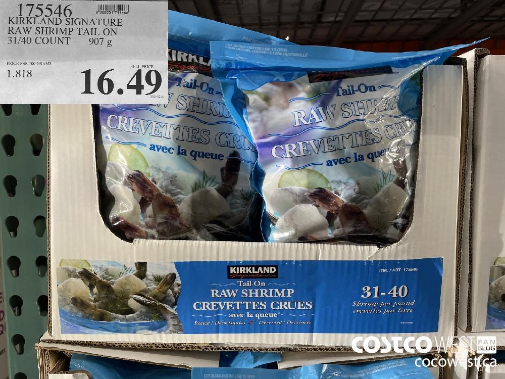 175546 KIRKLAND SIGNATURE RAW SHRIMP TAIL ON 31/40 COUNT 907 g $16.49