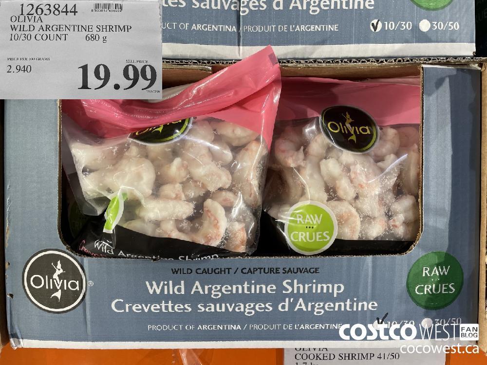 1263844 OLIVIA WILD ARGENTINE SHRIMP 10/30 COUNT 680 g $19.99