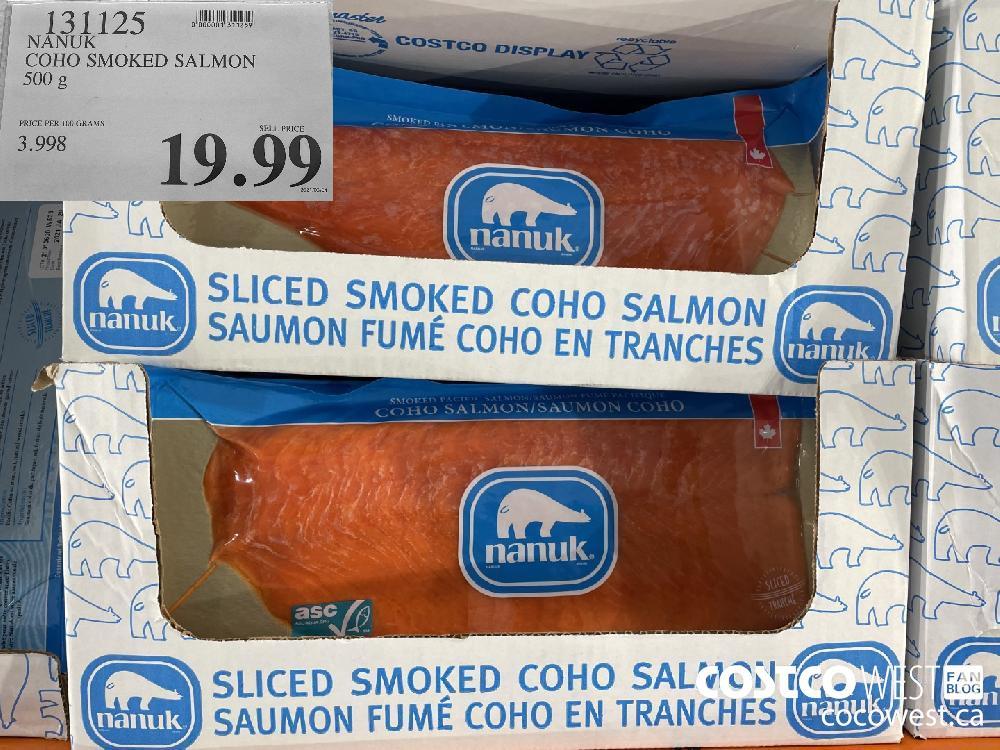 131125 NANUK COHO SMOKED SALMON 500 g $19.99