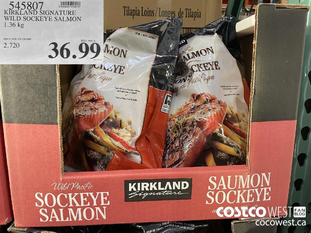 545807 KIRKLAND SIGNATURE WILD SOCKEYE SALMON 1.36 kg $36.99