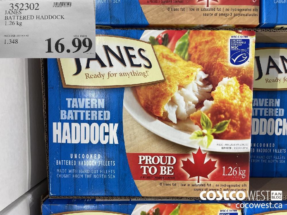 352302 JANES BATTERED HADDOCK 1.26 kg $16.99