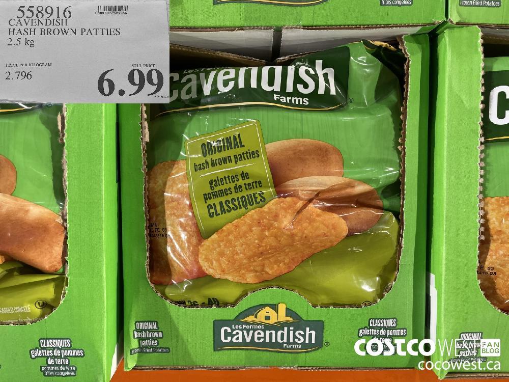 558916 CAVENDISH HASH BROWN PATTIES 2.5 kg $6.99