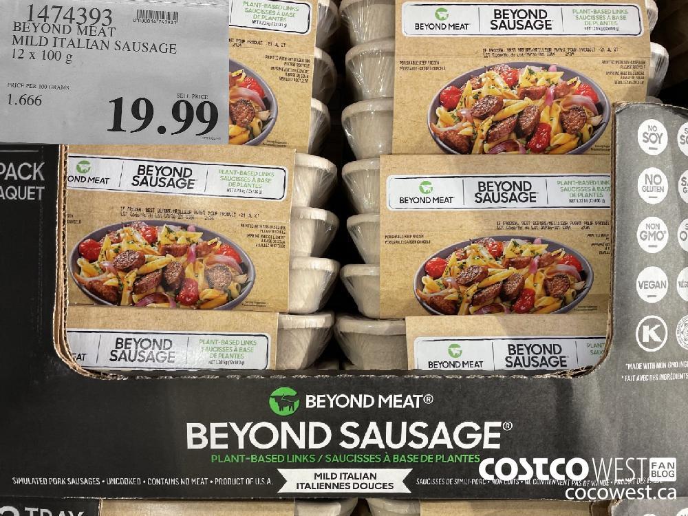 1474393 BEYOND MEAT MILD ITALIAN SAUSAGE 12 x 100 g $19.99