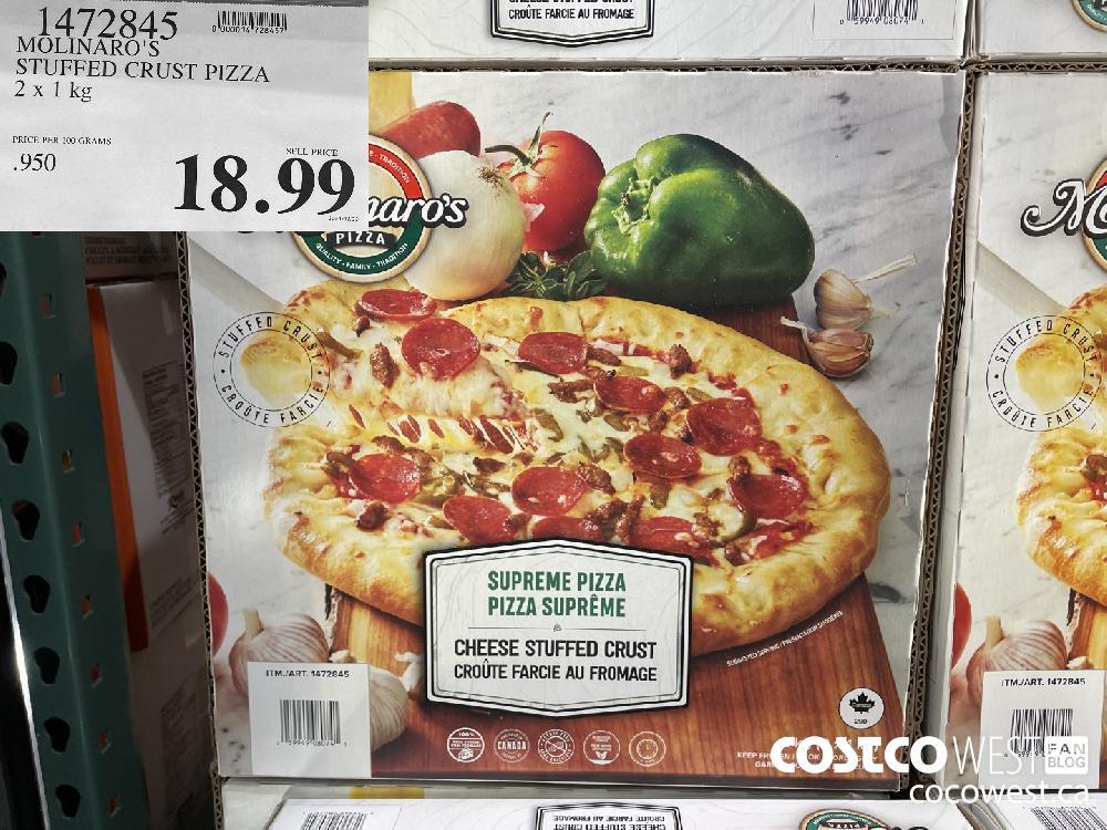1472845 MOLINARO'S STUFFED CRUST PIZZA 2 x 1 kg $18.9