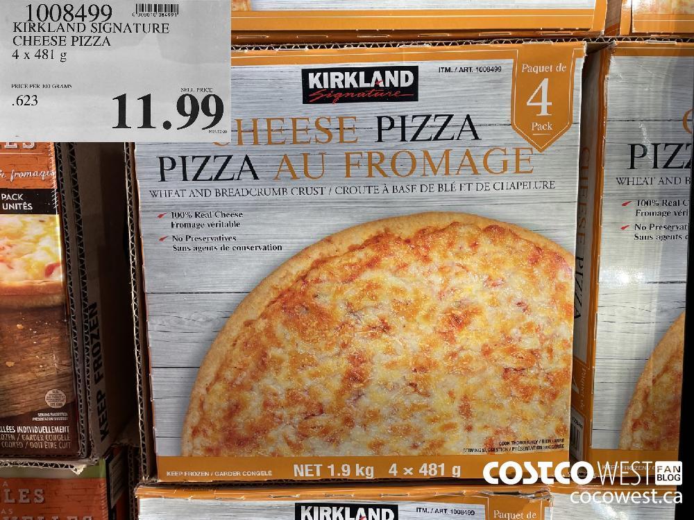 1008499 KIRKLAND SIGNATURE CHEESE PIZZA 4x 481 g $11.99