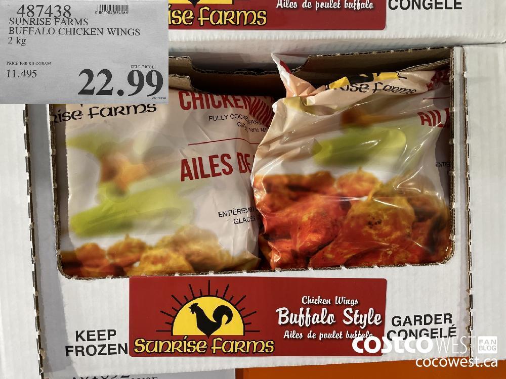 487438 SUNRISE FARMS BUFFALO CHICKEN WINGS 2 kg $29.99
